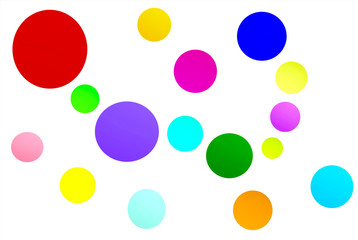 colorful round background