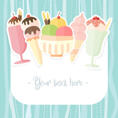 Summer ice cream background