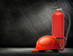 New blank red fire extinguisher