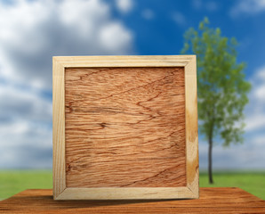 Square wooden frame