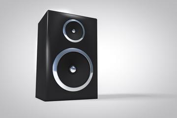 3D speaker or amplifier background. Music equipment concept.