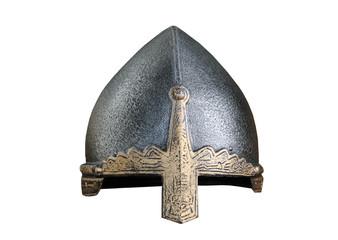 A Vintage Medieval Metal Armour Fighting Helmet.