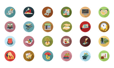 Financial Vector Flat Icons 5