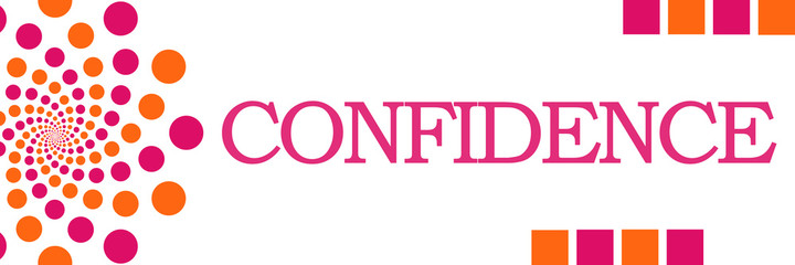Confidence Pink Orange Dots Horizontal