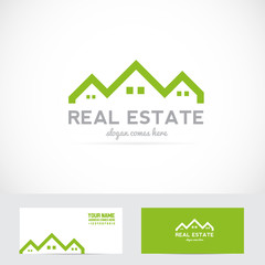 Real estate house shape logo
