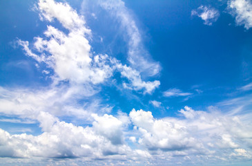 Blue sky with clouds in sunny day