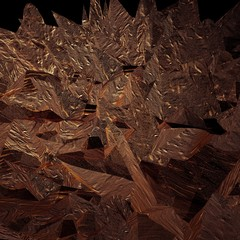 Copper crystals background