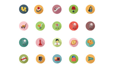 Shopping Flat Colored Icons 5