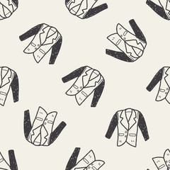 suit doodle seamless pattern background