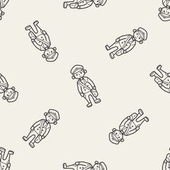 student doodle seamless pattern background