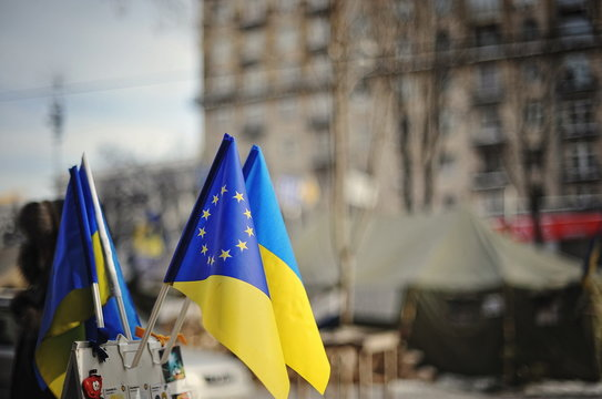 KYIV, UKRAINE - JANUARY 2014: Euromaidan. Revolution of Freedom.