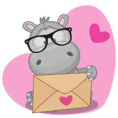 Hippo with envelope