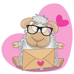 Sheep with envelope