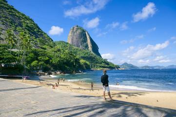Red Beach Sugarloaf Mountain Rio de Janeiro Brazil  Wall mural