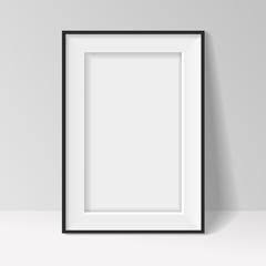 Black frame standing near the walll  background design