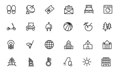 Hotel and Restaurant Line Icons 6