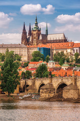 Wall Murals Prague Prague Castle and Charles Bridge