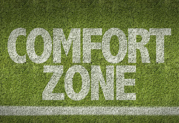 Soccer field with the text: Comfort Zone