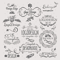 Logo design with hand sketched elements