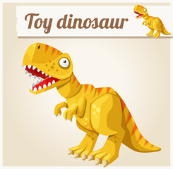 Toy dinosaur. Cartoon vector illustration. Series of children's