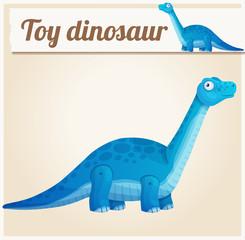 Toy dinosaur 2. Cartoon vector illustration. Series of children