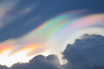 Beautiful iridescent cloud,Irisation