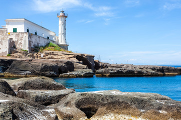 Ventotene Lighthouse, Italy.