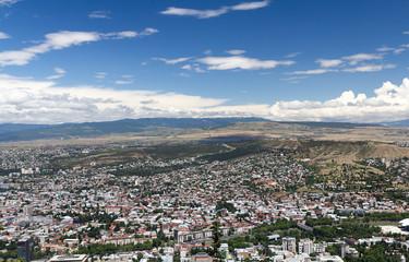 Bird's eye view of the capital Tbilisi Republic of Georgia
