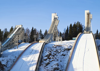 The complex of ski jumps