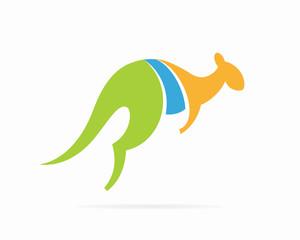 Vector kangaroo logo vector design template