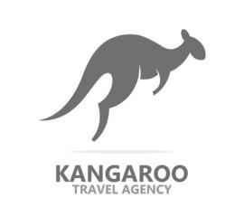 Vector kangaroo icon or logo