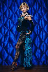 Foto auf Acrylglas Karneval tango woman