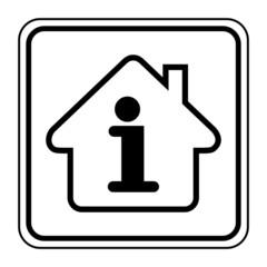 Logo maison et informations.