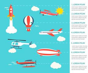 Air transportation infographics