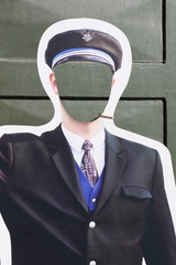 Silhouette de pilote d'avion