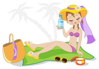 Ragazza Sulla Spiaggia - Girl On the Beach