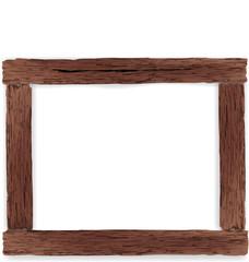 Vintage style wooden frame. Vector illustration.