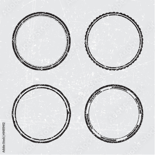set of four vector rubber stamp templates stock image and royalty