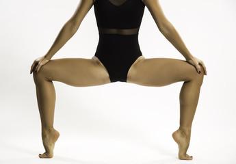 flexible-legged woman,