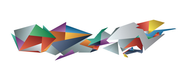 Vector Geometric Abstract Shape Background