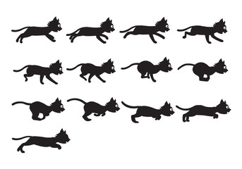 Black Cat Running Sprite