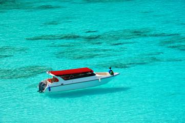 Speed Boat in Clear Sea