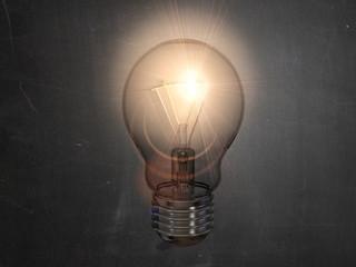 Glübirne Idee Lampe Leuchte leuchten Einfall