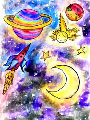 Cartoon Alien Space