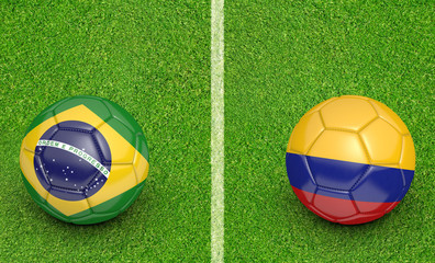 2015 Copa America football tournament, teams Brazil vs Colombia