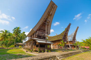 Scenic traditional village in Tana Toraja