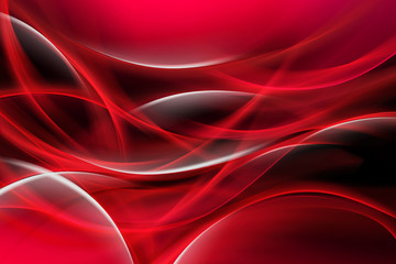 Fototapeta Red Bright Waves obraz