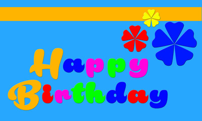 Happy Birthday Background Greeting Card