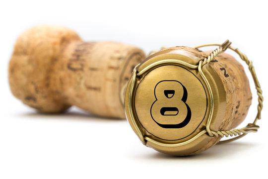 Champagnerkorken Jubiläum 8 Jahre