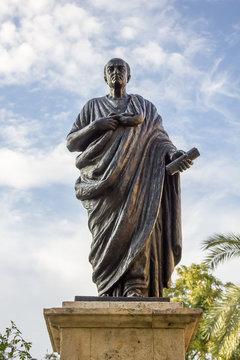 Statue of Seneca in Cordoba - Spain